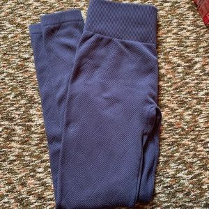Maurices gray textured fleece leggings